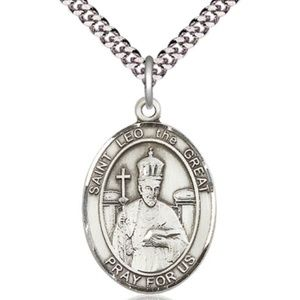 Sterling Silver St Leo the Great Pendant